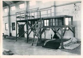 Wooden indoor ground training apparatus at Ringway.