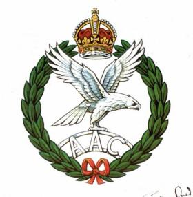 Army Air Corps Cap Badge - Coloured Design