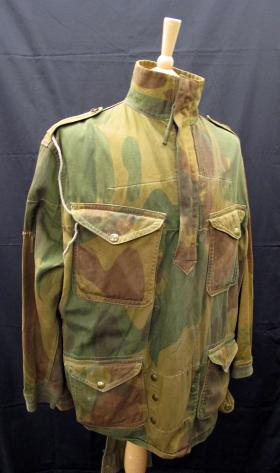 Denison Smock 1st Pattern, worn by Cpl Maxfield 225 PFA, Normandy 1944, from the Airborne Assault Museum Collection, Duxford.