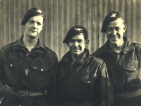 Pte 'Eddie' Johnson (left) & Pals, 2nd Para Bn, Palestine, 1946.