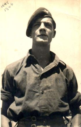Pte 'Eddie' Johnson, 2nd Para Bn, Palestine, 1946.