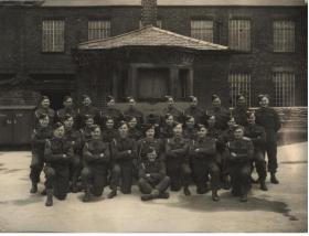 Royal Artillery unit photograph including Roy Burns