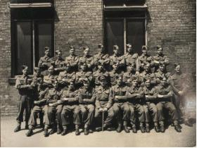 Royal Artillery unit photo including Roy Burns