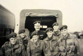 Coldstream Guards members of No 1 (Guards) Independent Para Company, Newcastle, 1957.
