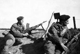 Two Irish Guards, Egypt c1951.