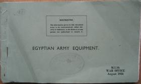 War Office booklet identifying Egyptian army equipment