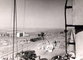 El Cap looking North with troop gun positions visible, 1956