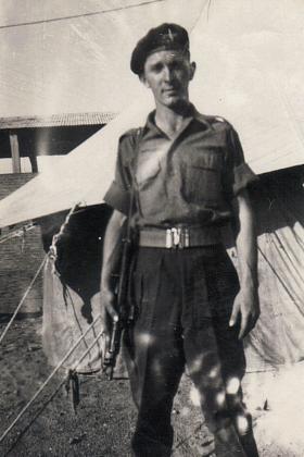 Pte Ernie Elston, Nathanya Palestine c 1947
