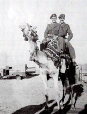 Alex Dunbar and Bobby Rankin, C Coy, 1 PARA, Fayid Egypt, Canal Zone, 1950s.