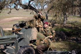 Re-enactors demonstrating use of 6 Pounder
