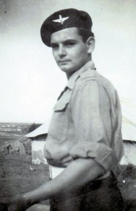 Pte Eric Aske, taken at Nathanya, Nov 1946.
