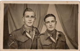 L/Cpl Dick Lant & Eric Kamstra Cairo 1946