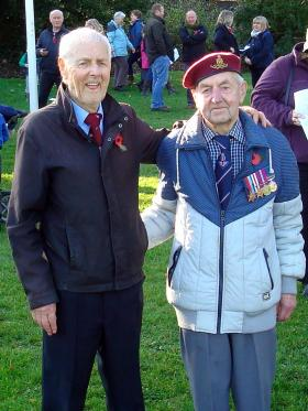 Ernest and Percy Lemon, 53rd (Worcester Yeomanry) Airlanding Light Regiment RA, Remembrance Sunday, 2014.