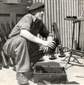 Cpl Butchers, Weapon Training Section, No.1 Parachute Regiment I.T.C c1945-46.
