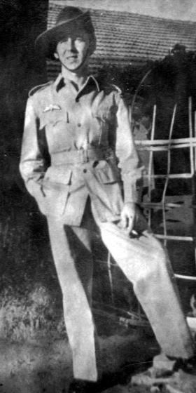 Bombardier Ernest Gregory, India, 1945.