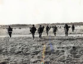 Men of 44th Parachute Brigade (TA) leaving the DZ, Ex King's Joker, 1953