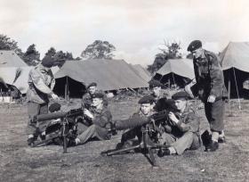 Men of 44th Parachute Brigade performing Vickers Machine Gun Drills, Exercise King's Joker, 1953
