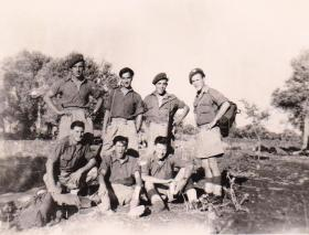 Members of 8 Para Bn on Exercise 'Footit' Tur'an Palestine 20 October 1947