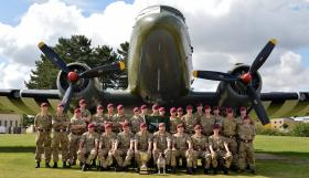 Bruneval Cup winners D Company, 2 PARA, 2015.