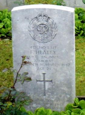 Headstone of Lance Sergeant Frederick Healey, Eiganes Churchyard, Stavanger, Norway.
