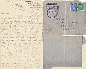 Letter written by Pte Francis Wood sent from North Africa to his father, May 1943