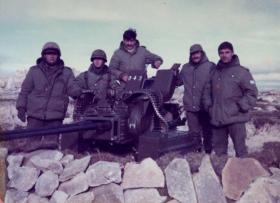 Argentine anti aircraft gun, Stanley airfield, Falklands, 1982