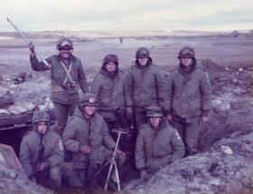 Argentine mortar pit, Falklands, 1982