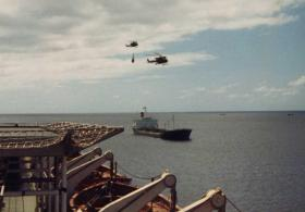 Cross Decking from the Norland to Atlantic Conveyor, Ascension Island, 1982
