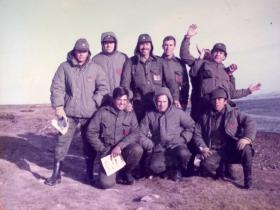 Group photo of Argentine soldiers shortly after their invasion of the Falklands, 1982
