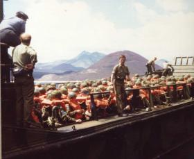Detail view of Landing Craft Training, Ascension Island, 1982