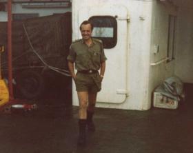 Maj Crosland, OC B COY, 2 PARA, MV Norland, 1982