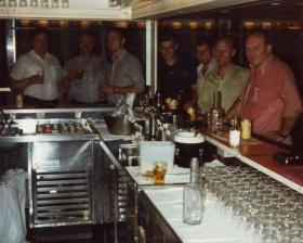 The Snug Bar, MV Norland, 1982