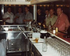 The Snug Bar, MV Norland, 1982