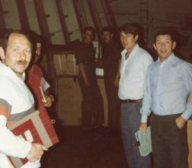 Members of the Stores Section, MV Norland, 1982