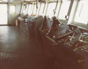 The bridge of the MV Norland, 1982