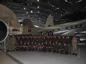 Visit by Falklands Platoon, ITC Catterick, to Airborne Assault Duxford, Jan 2012.