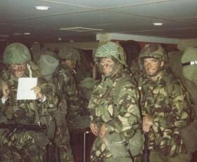 Ready to go ashore at San Carlos from MV Norland, Falkland Islands, 21 May 1982