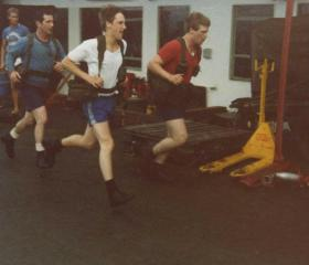 Fitness training on the Norland, 1982