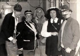 Sgts' Mess Fancy Dress, Aldershot, late 1960s.