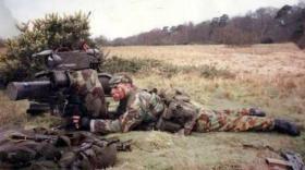Pte Harker with Milan, Anti Tank Platoon, 2 PARA.