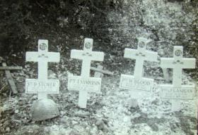 Field graves of members of 3rd Parachute Battalion Cork Wood, Tunisia, 1943
