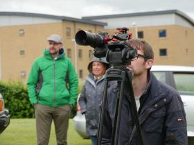 Filming for the new entrance display continued, Colchester, May 2015.