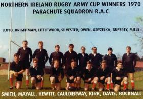 Northern Ireland Rugby Army Cup Winners, PARA Sqn RAC, 1970.