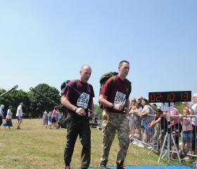 Former members of 3 Coy 10 Para, M Dawson & T Stores