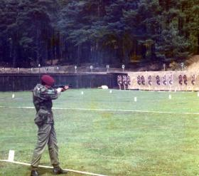 Junior Infantryman Fletcher during Skill At Arms Meeting (SAAM), July 1983.