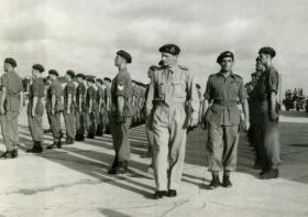 Field Marshal Montgomery inspects the 15th (Kings) Battalion, Mauripur, India, June 1946