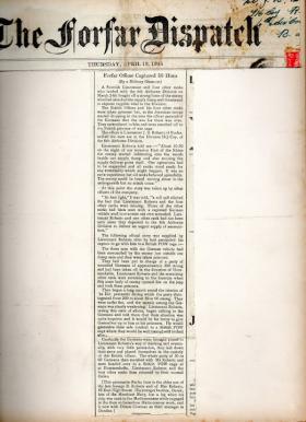 Lt J B Roberts, The Forfar Dispatch, 19 April 1945.