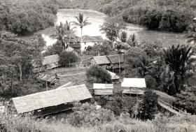 Forward Operating Base for 845 Naval Air Squadron, Nanga Gaat, Borneo, 1965.