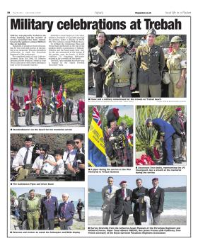Newspaper article on Trebah Military Day 2012