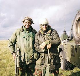 C/Sgt F Fletcher and Sgt T Millar, 2 PARA, Brecon, January 2004.